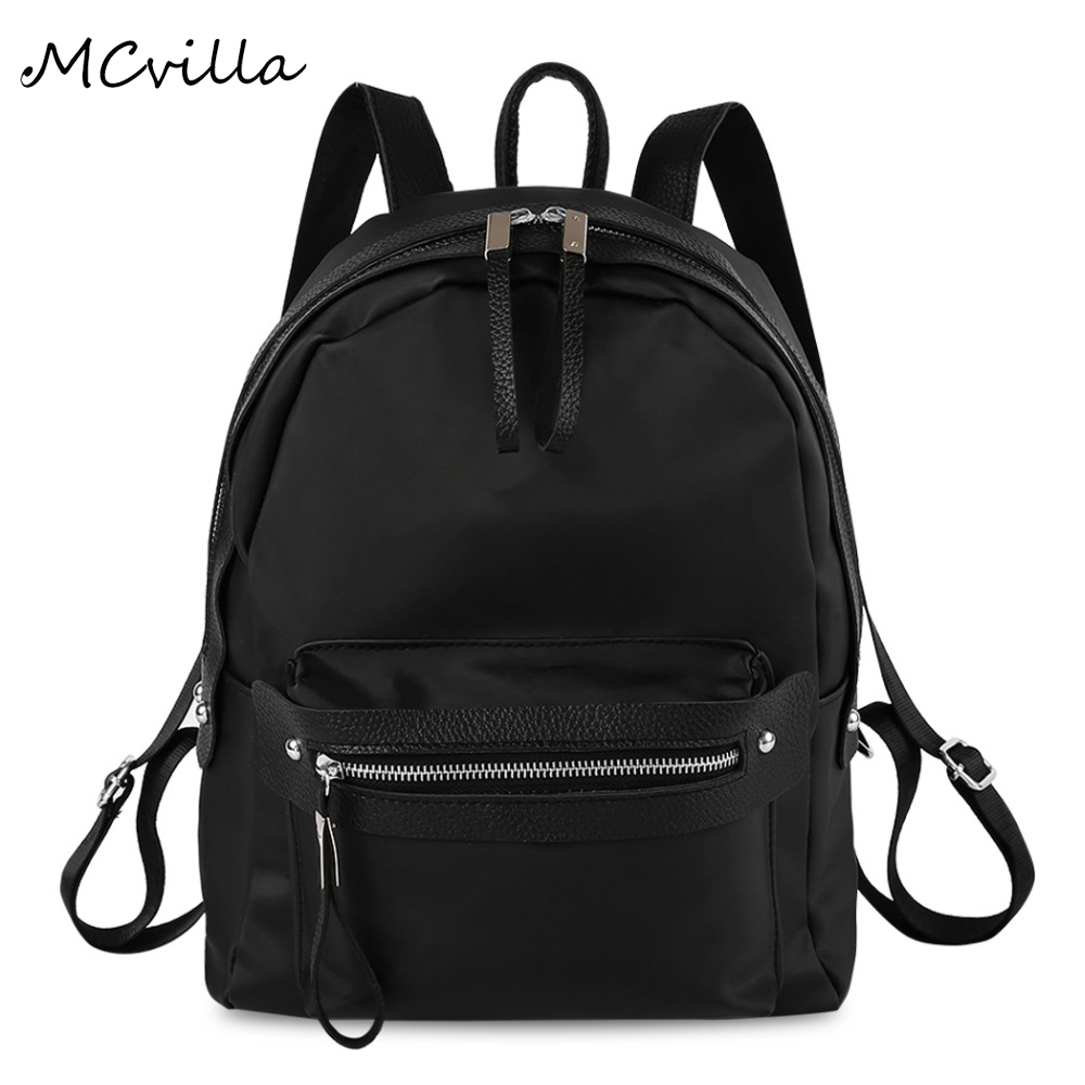 Fashion Nylon Waterproof women's Backpack Female Casual Travel Bag Shoulder BackBag Preppy Style Backpacks for Teenage Girls fashion denim backpack preppy style casual shoulders double shoulder bag schoolbag style blue x 59966