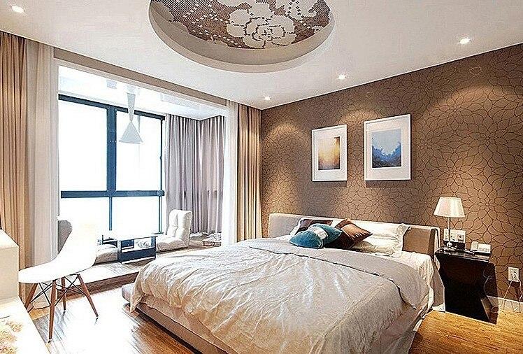 Superior 3 Rolls/Lot Waterproof Abrasion Resistant Wallpaper Hotel Motel Bedroom  Livingroom Studyroom Flowers Gold Silver Brown In Wallpapers From Home  Improvement ...