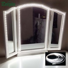 Светодиодный косметическое зеркало огни комплект 4 м 240 светодиодный s макияж зеркало свет для макияж Настольный набор с диммер США/ЕС/Великобритания/АС Plug