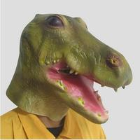 Free Shipping High Quality Halloween Christmas Party Cosplay Animal Latex Crocodile Mask Cartoon Crocodile Head Mask