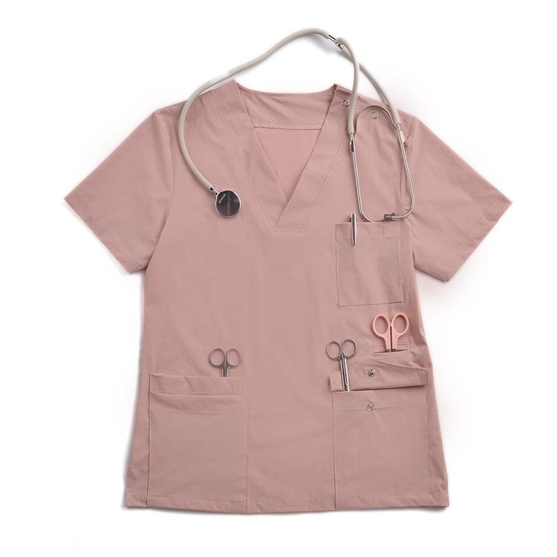 High Quality Static Free Unise Shortsleeve Medical Scub Sets Pet Shop Grooming Workwear Dentist Uniform