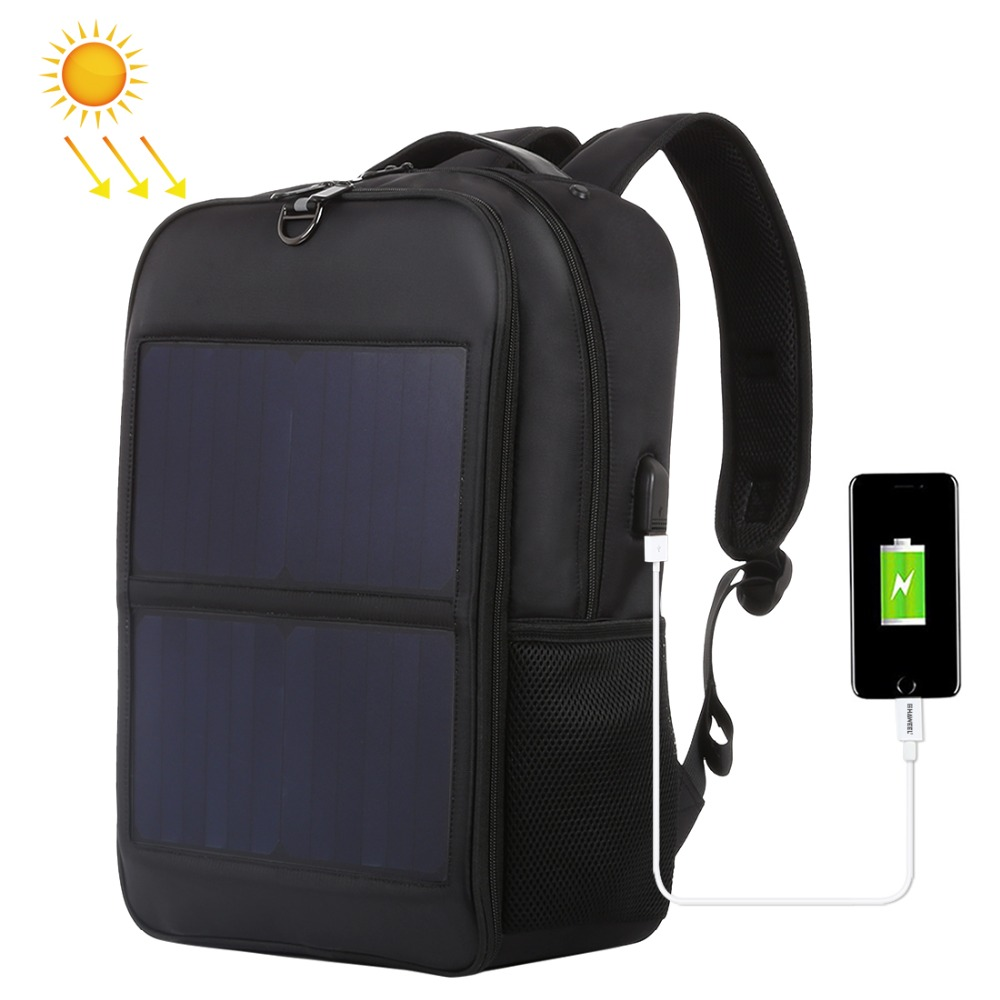 купить New Solar Panel Backpacks Convenience Charging Laptop Bags for Travel 14W Solar Charger with Handle and Dual USB Charging Port недорого