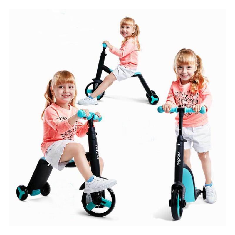 สกู๊ตเตอร์เด็กสามล้อเด็ก 3 In 1 จักรยานขี่ของเล่น-ใน รถขับของเล่น จาก ของเล่นและงานอดิเรก บน   1