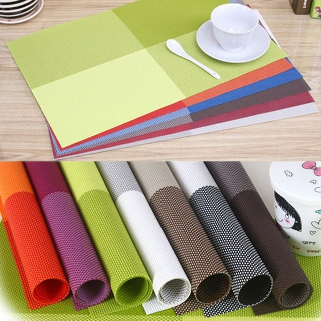 Incroyable 4 PCS/Lot 10 Color Placemats Dining Tables Place Mats Pad Tableware Bowl  Mat Table