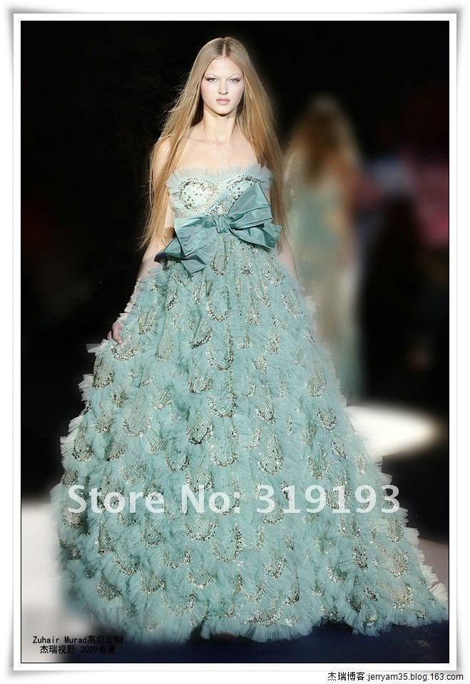 2013 zuhair murad couture blue ball gown tulle sweetheart for High fashion couture dresses