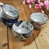 Ceramics Tableware Japanese Style Bowl Blue And White Porcelain Set Rice Bowl Noodle Bowl Porcelain Microwave