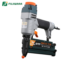 FUJIWARA 3 in 1 Carpenter Pneumatic Nail Gun Woodworking Air Stapler F10 F50, T20 T50, 440K Nails Home DIY Carpentry Decoration