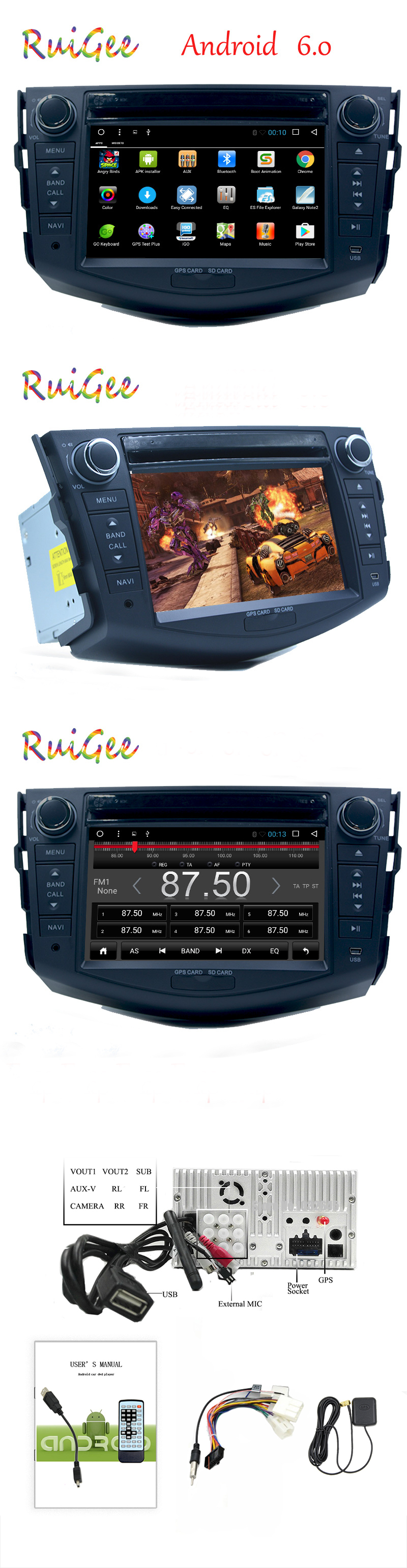 Clearance Free camera Android 7.1 Core 1GB RAM Car DVD Player For Toyota RAV4 RAV 4 2006 2007 2008 2009 2010 2012 GPS BT Radio 8