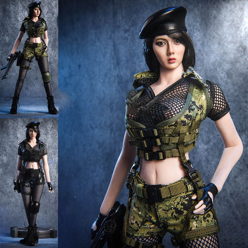 1/6 female soldier doll costume set Battlefield girl, suitable for the gelatin body model 2x 1156 ba15s p21w w cree chips q5 5w white led car reverse bulb for alfa romeo 155 156 164