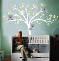 Big Nursery Room Decor Tree 220x196cm Large Koala Tree Wall Decals For Baby Bursery Custom Vinyl Wall Decor Stickers D 16