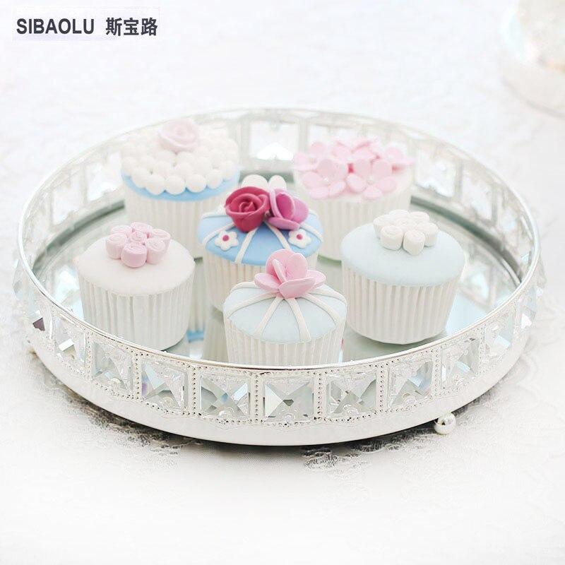 Nov prihod desertne plošče shranjevalni pladenj srebrni tortni - Kuhinja, jedilnica in bar