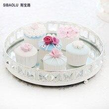 Новое прибытие Десертные тарелки Лоток для хранения лотка для серебра для торта Декор для десертов Фруктовый лоток для чайных лотков для торта
