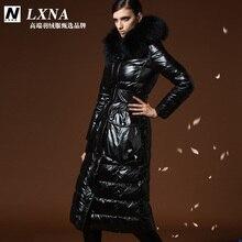 2015 new Hot winter Thicken Warm Woman Down jacket Coat Parkas Outerwear Hooded Raccoon Fur collar  Luxury long plus size 2XXL