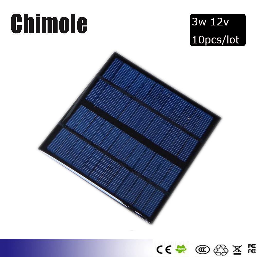 10pcs A polycrystalline silicon solar cells 12V 3W 145x145x3mm High Efficiency Mini Solar Panel Module Solar Charger DIY Kit