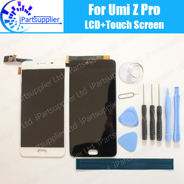 UMI Z Pro LCD Display+Touch Screen 100% Original LCD Digitizer Glass Panel Replacement For UMIDIGI Z Pro+tools+adhesive