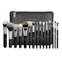 YAVAY 15 Pcs LUXE Complete Makeup Brushes Set Professional Luxury Set Make Up Tools Kit Powder