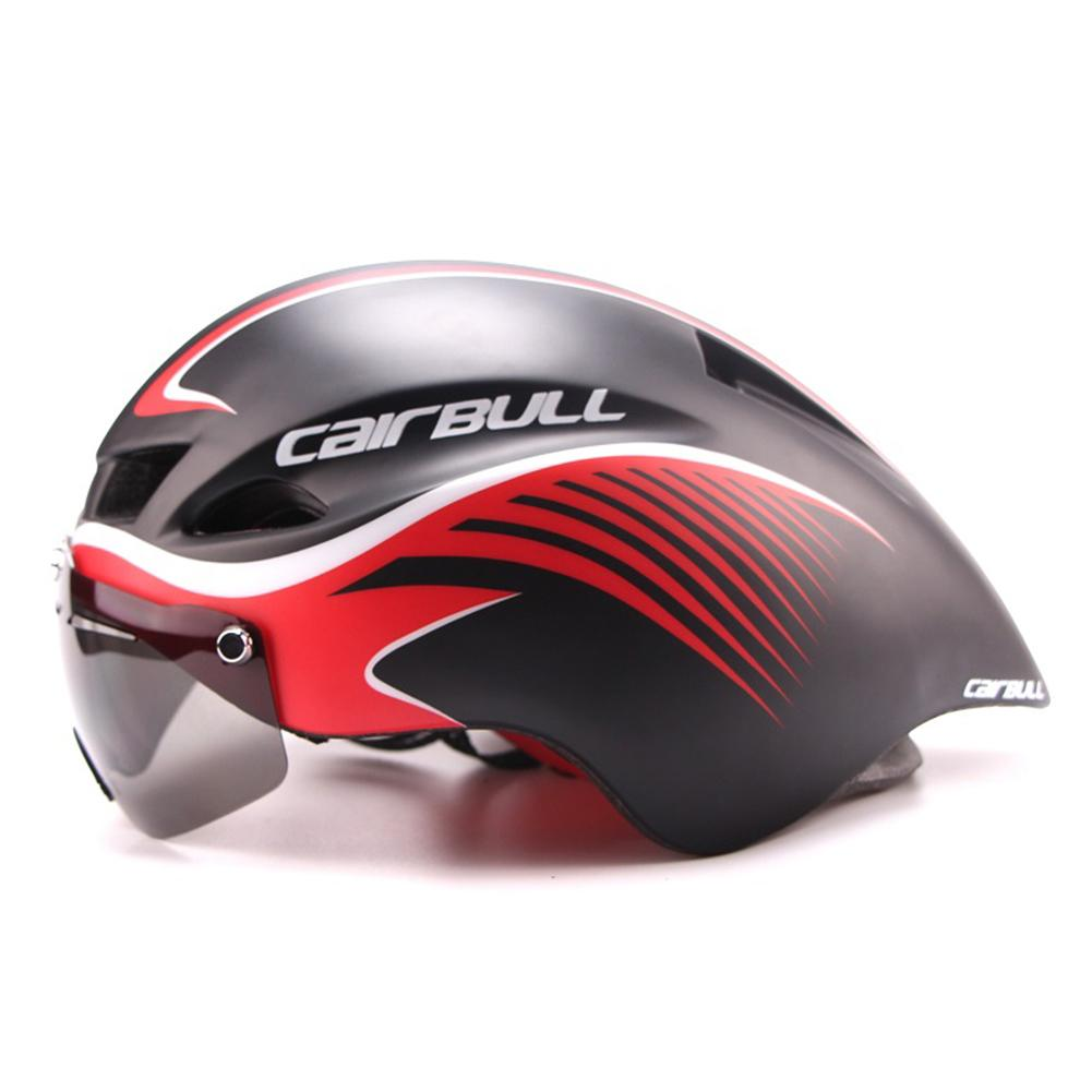 New290g Aero TT Road Bicycle Helmet Goggles Racing Cycling Bike Sports Safety TT Helmet in-mold Road Bike Cycling Goggle Helmet стоимость