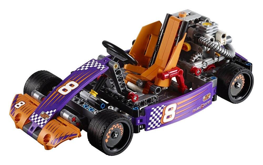 ЛЕЛЕ Техника Город Серии 2-в-1 Race Kart Автомобиль Строительные Блоки Кирпичи Модель Детей Игрушки Marvel Совместимость Legoe