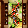 Beibehang Beautiful Nine Fish Picture TV Sofa Mystery Background Wall Custom Large Fresco Green Wallpaper Papel