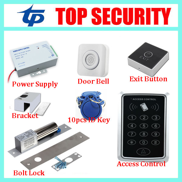 DIY F007 125KHZ RFID card smart card door access control system single door standalone EM card access controller