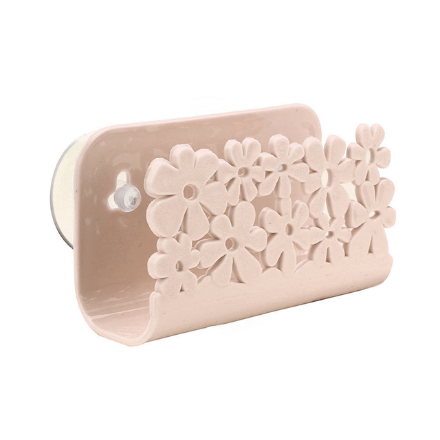 Kitchen Organizer Rack for Dish Clothes Sink Sponge Dish Holder Clip with Suction Cup Hollow Flower Kitchen Bathroom Drying Rack 4
