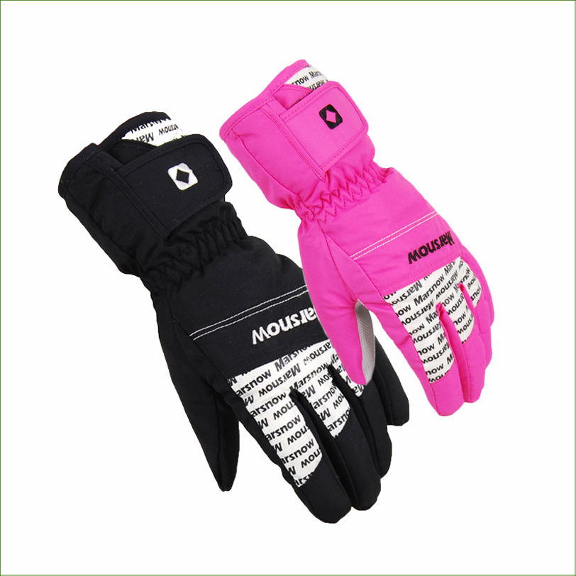 SG04 Guantes de nieve a prueba de agua de invierno moto ciclismo esquí snowboard guante negro exterior envío gratis