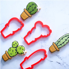 Cactus Cookie Cutter Made 3D Printed Fondant Cupcake Confeitaria Moulds Cookie Tools Cake Decorating Tools Cookie Cutter Set