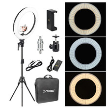 Zomei 18'' Dimmable Photographic Lighting Studio Video LED Ring Light 3200-5600K for Smart phone Makeup Live Youtube portrait(China)