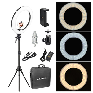 Image 1 - Zomei 18 inch LED Ring Light Dimmable Photographic Lighting Studio Video light 3200 5600K for phone Makeup Live Youtube portrait