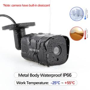 Image 5 - Techege H.265 CCTV System POE NVR Kit 4CH 5MP Audio Record Im Freien Wasserdichte POE IP Kamera Home Security Kamera System