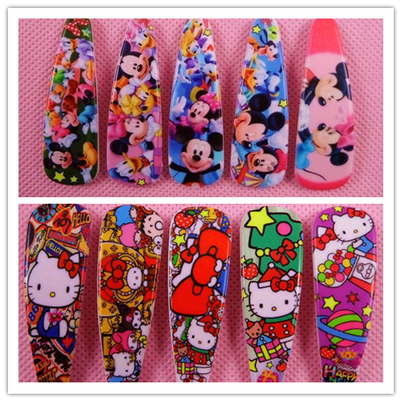 5Pcs Hello Kitty Mickey Minnie Barrettes Hair Pin Cute Kids BB Hair Clips Headwear Girls Rim Hair Ornaments  Hair Accessories 2016 new year girls mickey pajamas suit for 2 7years children nightgown pyjamas kids hello kitty minnie christmas pijamas