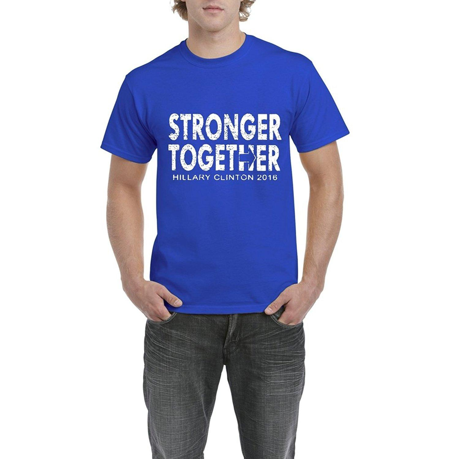 Wear adult motorcycle tee shirts stronger together hillary for Wear my t shirt