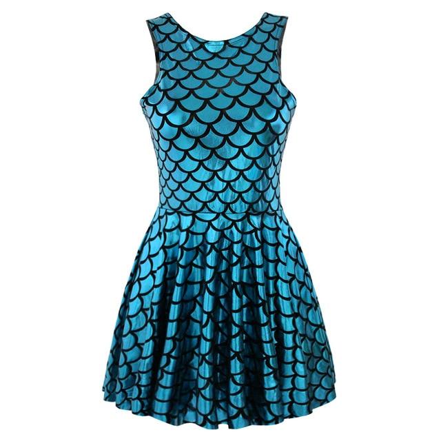 Vestido настоящее ну вечеринку платья весы платье узор темперамент без рукавов плиссировка приталенный был тонкий дети