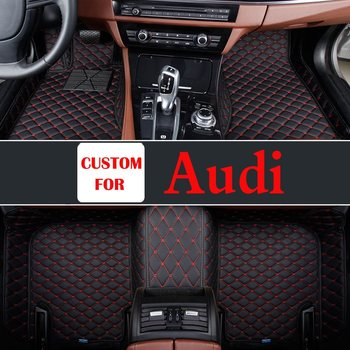 Car Interior Decoration Floor Mats Firm For Audi A8l A3 A6 A4 Q7 R8 Tt S8 A5 A7 Q3 Q5 S5 Soft Leather Easy To Remove Dirty