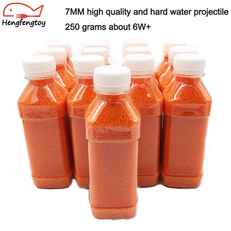 Water Bombs 7mm Orange High Quality Hard And Stable Crystal 7-8mm Crystal Cartridge Box Packed Gel Ball Water Gun