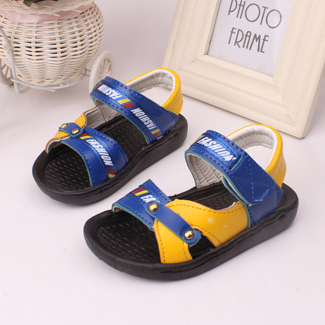 366a99bf6 free shipping summer 1~3 years old boys sandals children shoes boys open  toe 2 colors soft buttom soft leather ankle-wrap shoes