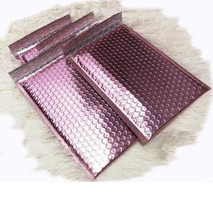 Image 4 - Oro rosa Bolla Avvolge, Metallic Rose Gold Bolla Foglio Mailer per Limballaggio del Regalo, Favore di Cerimonia Nuziale Del Sacchetto di Trasporto Libero