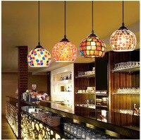 Artpad الإبداعية المتوسطية نمط الصمام الفسيفساء أضواء شريط مصباح قلادة مصباح الرجعية العتيقة بوهيميا معلقة لل فندق غرفة الطعام
