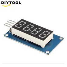 1PCS TM1637 4 Bits Digital LED Display Module For arduino 7 Segment 0.36Inch Clock RED Anode Tube Four Serial Driver Board 20pcs 0 56inches 7 segment 2 digital led display super red common cathode