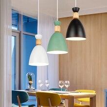 Светодиодная Подвесная лампа, современный деревянный потолочный светильник для ресторана, столовой, спальни
