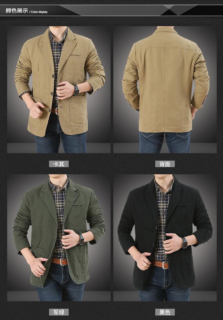 Blazers de algodão puro para homens, blazers de lazer no outono de 2020