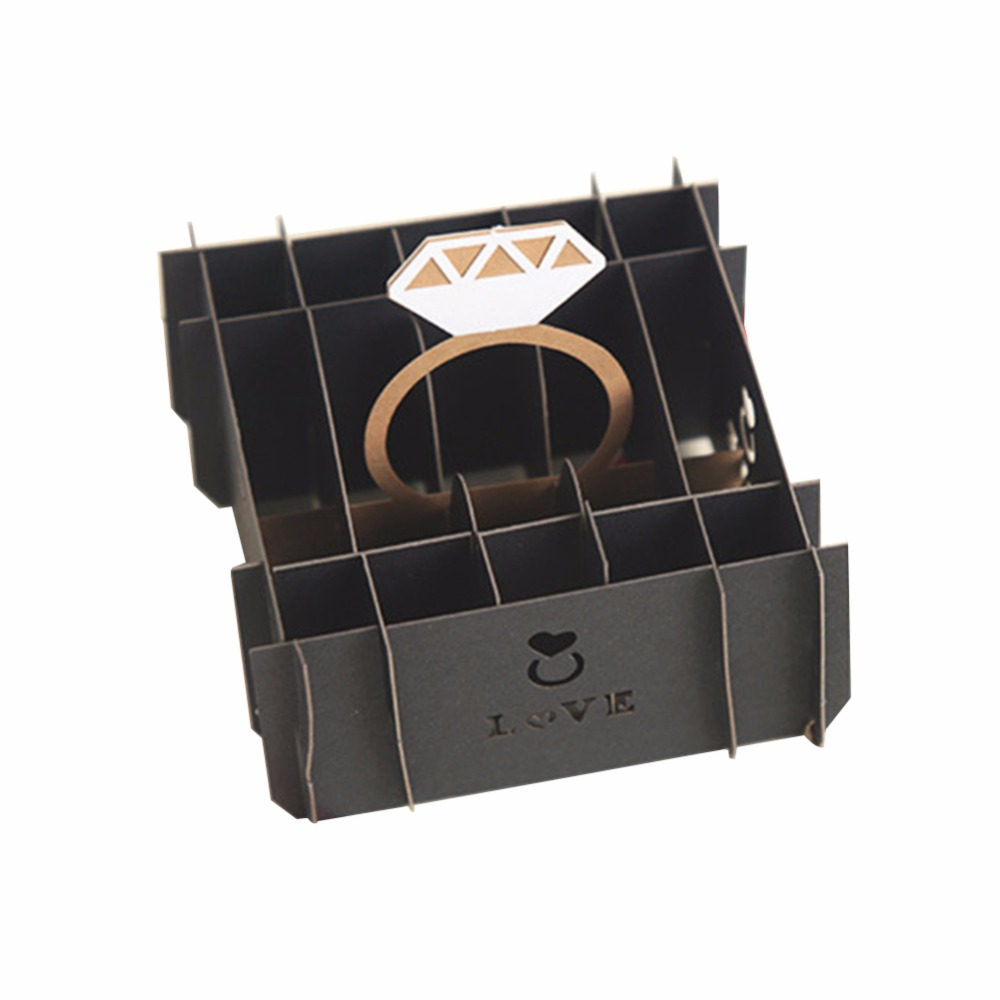 Gift Box Wedding Invitations: New 2018 Ring Gift Box Valentine's Day Wedding Invitations