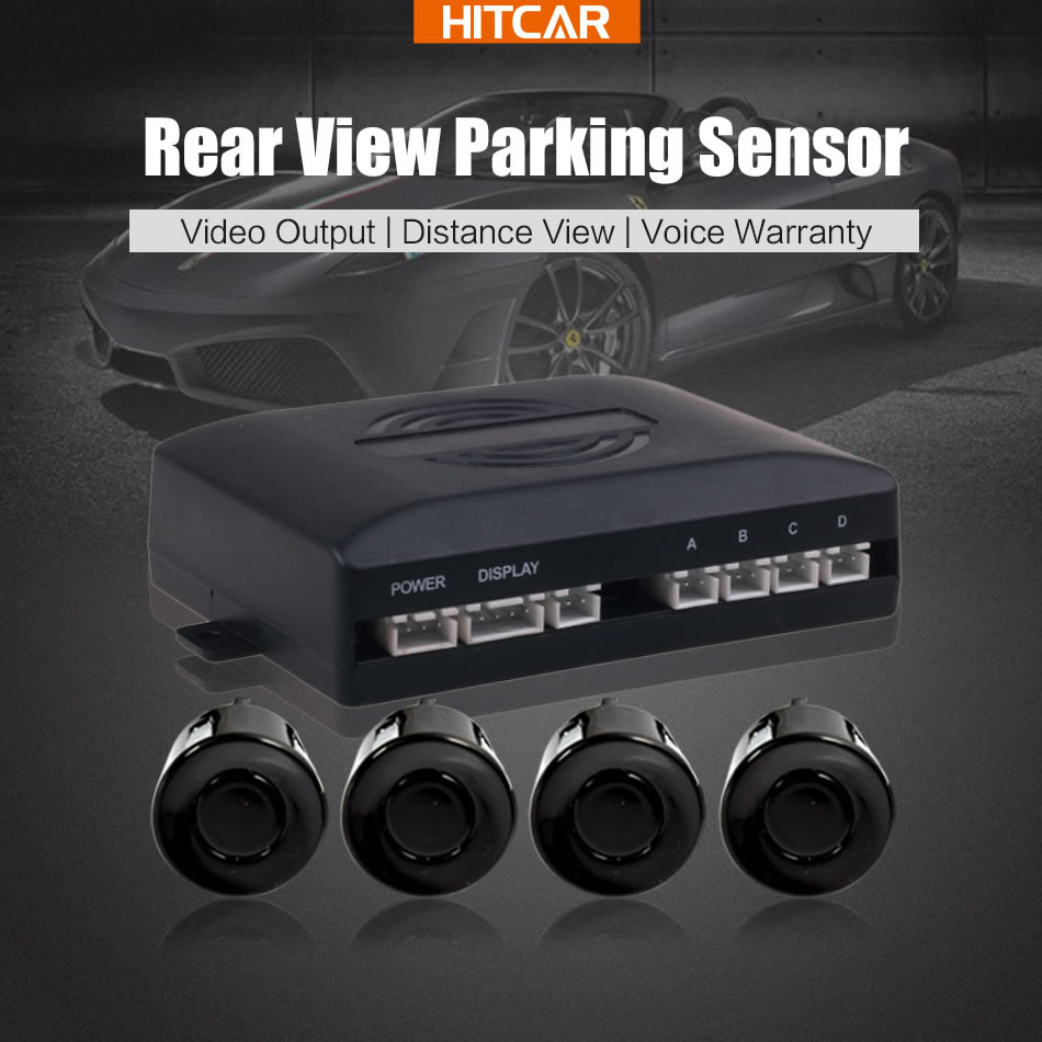 Rear Radar Visible Parking Sensor with Video Output for Car Monitor DVD - Voice Warning Distance Display