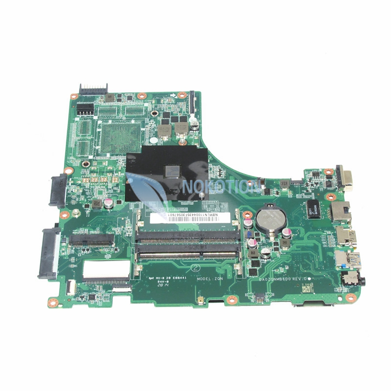 NOKOTION NBMLN11004 Laptop motherboard For acer aspire E5-421 E5-421G A4-6210M ddr3 NB.MLN11.004 DA0ZQNMB6D0 Mainboard full test laptop motherboard fit for acer aspire 3820 3820t notebook pc mainboard hm55 48 4hl01 031 48 4hl01 03m
