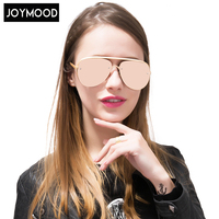 JOYMOOD Twin Beam Aviation Polarized Sunglasses Women Hollow Out Coating Lens Vintage Sun Glasses Lady Fashion Oculos De Sol