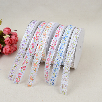 Nueva caja de regalo de cinta de encaje de uñas de crisantemo, cinta de embalaje, tocado, accesorios de decoración de lazo, 1,5 cm x 20 yardas