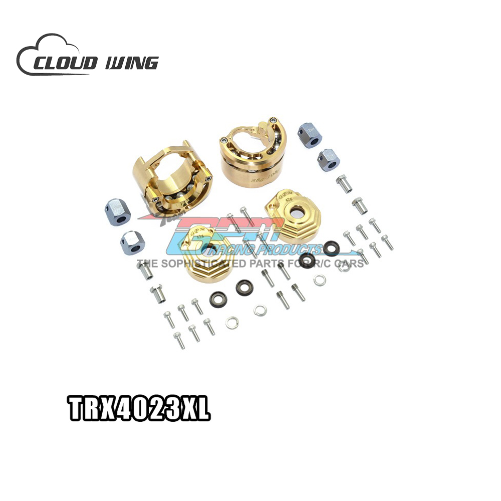 TRAXXAS TRX-4 TRX4 82056-4 Pendulum Wheel Knuckle Axle Weight-Bearing Device Brass For RC Car Original Spare Parts TRX4023XL traxxas trx 4 trx4 82056 4 pure copper pendulum wheels knuckle axle rotary type weight 21mm hex adapter set trx4023xx