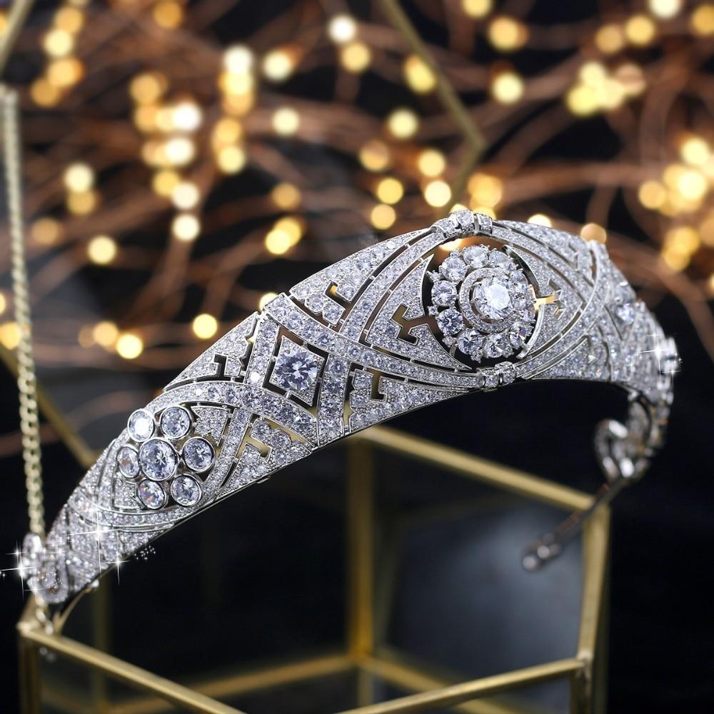 ASNORA Gorgeous Crown Tiara de Noiva Meghan Markle Wedding Hair Accessories Women Hair Jewelry Zircon Bridal