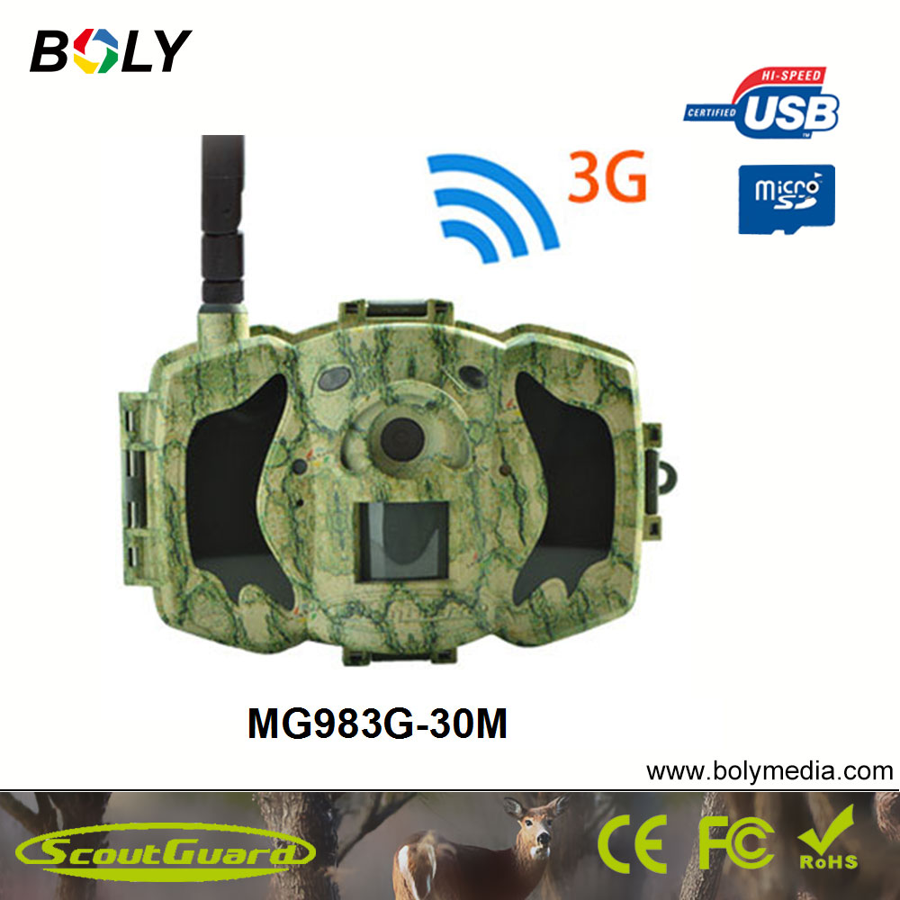 Bolyguard 30MP 1080P HD Hunting Trail Camera 3G Wireless Security GSM phone MMS GPRS Waterproof Anti Theft Photo Trap Camera ...