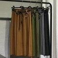 Новый высокой талией шерстяные слово юбка Г-Жа юбка утолщение эластичный пояс юбки шерсть юбка в складку